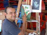 Maler im Handwerkerort Sarchi, Costa Rica