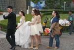 Hochzeitspaar in Shandong, in Shanghai, China
