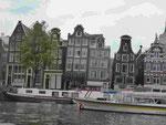 """Die """"tanzenden Häuser"""" in Amsterdam"""