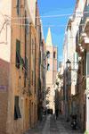 Straße in Alghero, Sardinien