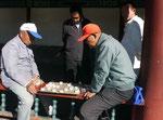 Spieler im Himmelstempelpark, Peking, China