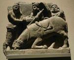 Der Abschied Siddhartas von seinem Pferd Kanthaka, Gandhara, 2./3. Jh. n. Chr.