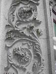 Granitmuster im Handelpalast von Porto, Portugal