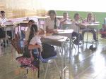 An einer Grundschule in San Raffael, Costa Rica