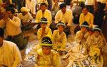 In Myanmarwird der Buddha verehrt