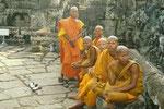 Mönche bei Lokesvara, Angkor Thom, Siem Reap, Kambodscha