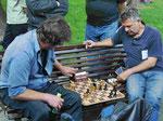 Schachspieler in Sofia, Bulgarien