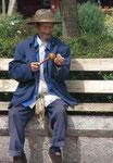 Alter Mann in Lingjang, China