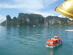 Tenderboot in der Phang Nga Bucht, Thailand