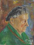 Oma von Mutters Seite, mein erstes Ölporträt mit 18