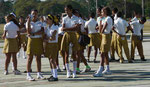 Schulmädchen in Santiago del Kuba