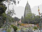 Der Mahabodhi Tempel in Bodhgaya, Indien