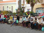 Vor der Kirche in Mindelo, Kapverden
