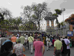 Eingang zum Gelände vom Mahabodhi Tempel von Bodhgaya, Indien