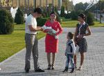 Familie in Taschkent, Usbekistan