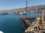 Der Hafen von Valparaiso, Chile