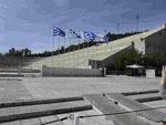 Das marmorne Olympiastadion der 1. Spiele der Neuzeit in Athen