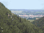 Blick von Oybin auf Zittau, Sachsen