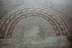 Mondstein am Eingang zu einem Tempel  in Anuradnahpura, Sri Lanka