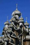 Russische Espenholzkiche auf der Halbinsel Kisi, Russland