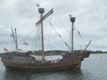 Hanse Sail Rostock 2013, dreimastige Hansekogge (Nachbau aus Lübeck)