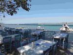 Am Hafen von Limenas, Thassos, Griechenland