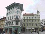 Fassaden in Ljubljana:, Slowenien