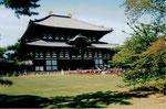 Die Große Buddhahalle (Daibutsuden) im Todaiji Tempel, Nara, Japan