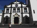 Fassade der Stadtkirche  in Ponta Delgada,  Sao Miguel, Azoren
