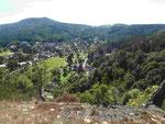 Blick von der Burg auf den Kurort Oybin, Sachsen