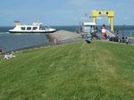 Fährhafen auf Nordstrand, Fähre nach Pellworm