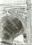 Detail des Konstantinbogens, Rom, italien