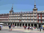Zentrum des Plaza Major, Madrid, Spanien