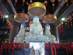 In einem Tempel in Nanjing,  Volksrepublik China