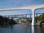 Drei Brücken über den Douro in Porto, Portugal
