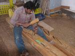 """""""Gastarbeiter"""" auf einer Dhauwerft in Sur, Oman"""