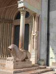 Seiteneingang des Doms von Modena, Italien