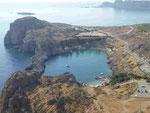Agios-Pavlos-Bucht bei Lindos, Rhodos, Griechenland