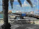 Pontonbrücke in Willemstad, Curacao, Niederländische Antillen