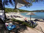 Strand auf Thassos, Griechenland