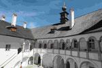 Laubengänge im Schloss Orth in Gmunden am Traunsee