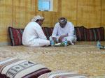 In einem traditionellen Restaurant im Oman