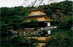 Zen-Garten in Kyoto, Japan, der Goldene Pavillion im Kinkaku-ji