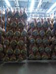 Parmaschinkenherstellung bei Parma, Italien
