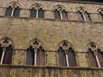 Fassade in Siena, Italien