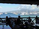 Blick auf die Bucht von Fort-de- France, Martinique, Frankreich