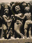 Die Geburt des Bodhisattva, Gandhara, 2./3. Jh. n. Chr., Detailansicht