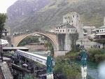 Die Alte/neue Brücke von Mostar, Bosnien Herzogovina