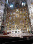 Holz 2: Vergoldeter Altar der Kathedrale von Toledo, Spanien