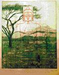 Buddha und Schlange  25*20